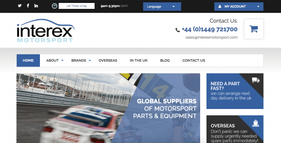 Interex invests in responsive website for an improved customer experience