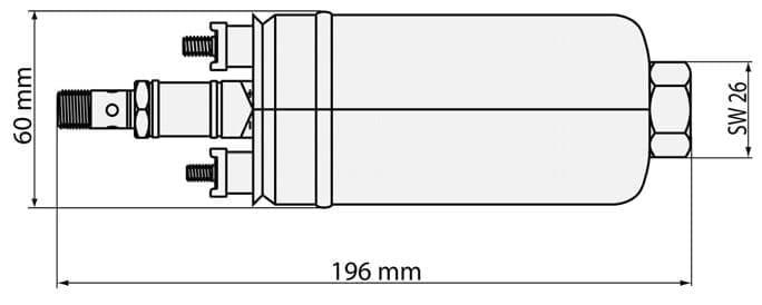 Bosch Uprated Fuel Pump 0580254044 FP200 - 044