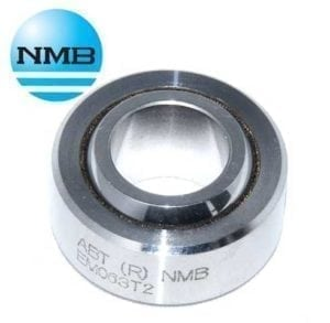 ABWT7V NMB 7 16 Spherical Bearing Stainless Steel PTFE V Groove Type