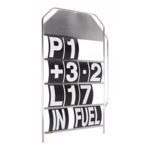 B G Racing Large white pit board numbers 1 1000x1000