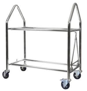 Stainless steel wheel and tyre trolley 1 3016x3164